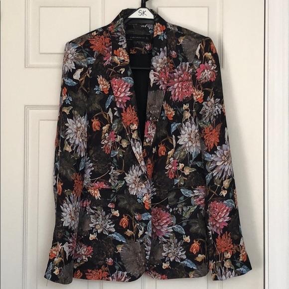 Zara Woman Floral Blazer